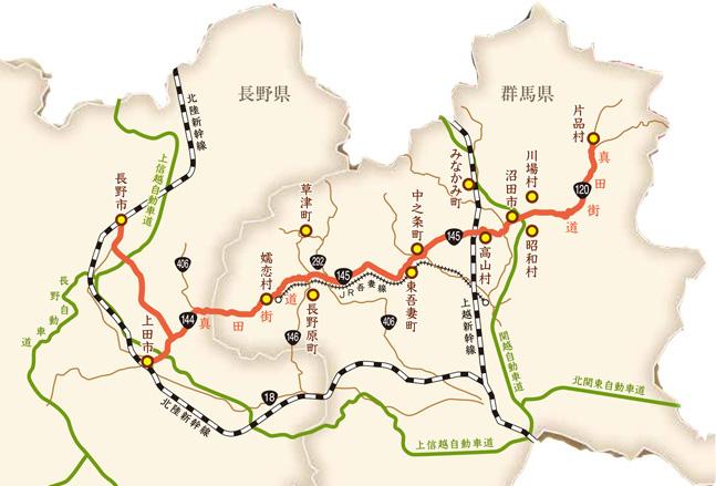 真田街道地図